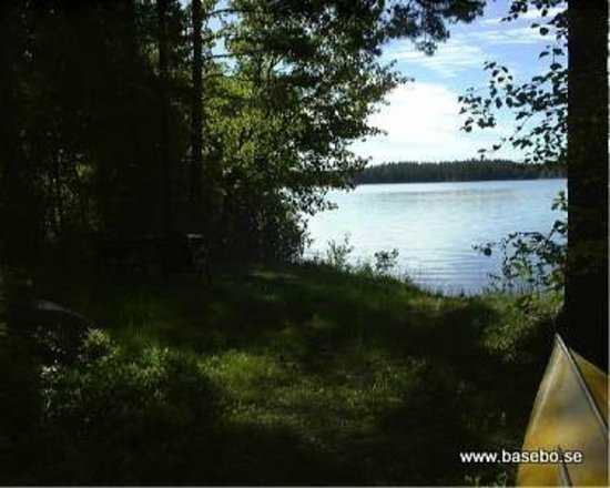 Hultsfred, Sweden: close by lake with beach and boat