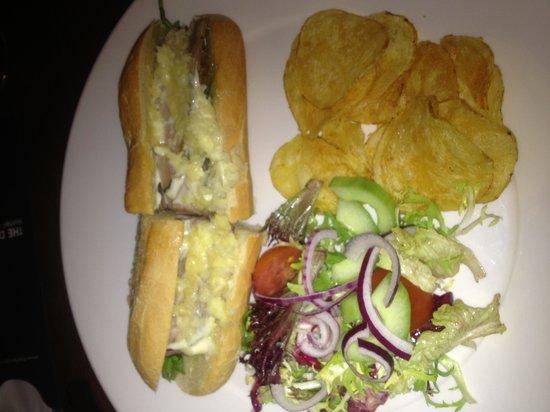 The Douglas Hotel Bistro:                   Roast beef baguette