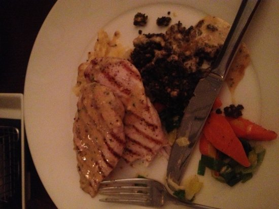 The Douglas Hotel Bistro:                   Chicken with haggis