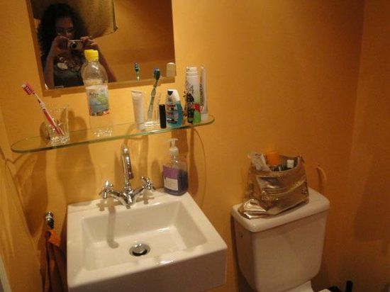 Pension De Laurier:                   the other side of the bathroom