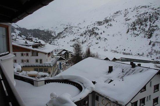 Hotel Austria Bellevue:                   Blich aus dem Zimmer 201