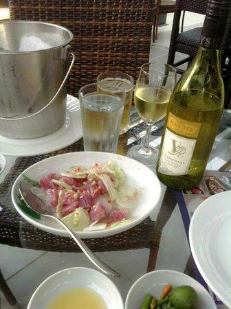 Davao Marinatuna Seafoods:                   Kinilaw - Fresh Tuna with White Vinegar & Vegetables