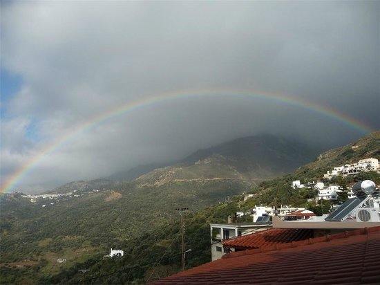 AnnaView Apartments:                                     Rainbow from Sellia to Mirthios