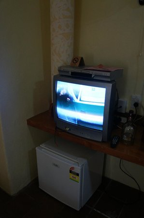 The Rarotongan Beach Resort & Spa:                   Very outdated TV, not a problem but it had something spilt on it