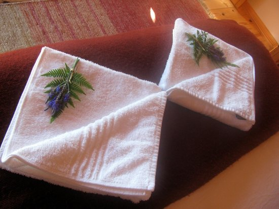Cliffhanger Cottages :                   towels