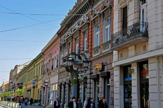 Vladicanski Dvor - Bishops Palace:                   De nabijgelegen Zmaj Jovina Ulica