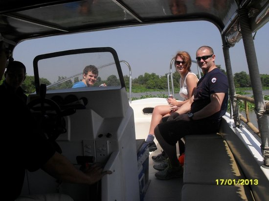 Saigon River Express: My son and grandchildren got sun/windburn on the way back