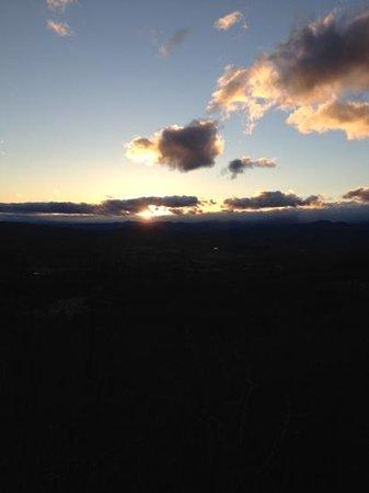 Jump Off Rock :                                     Cloudy but beautiful sunset.