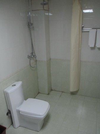 Yingu Hotel - Harbin:                   Shower area in bathroom