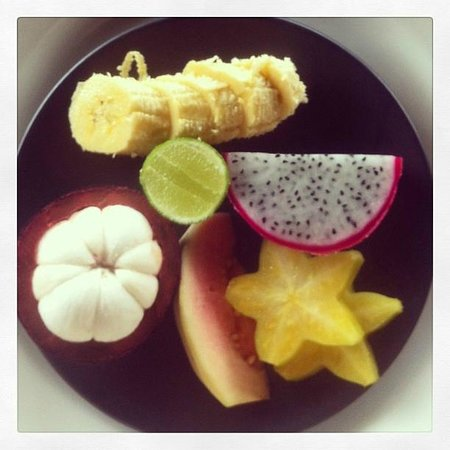 The Damai:                   tropical fruit for breakfast