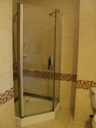 Huong Bien Hotel:                   Big bathroom, small shower cubicle, no bath