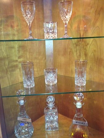 Carlton George Hotel:                   Decanter & Glasses