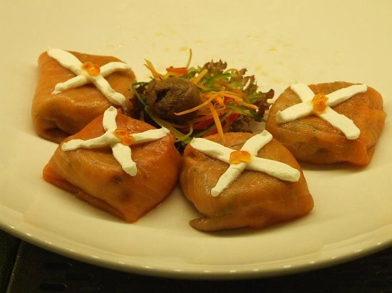 Sumahan on the Water:                                                                         Smoked salmon tapa