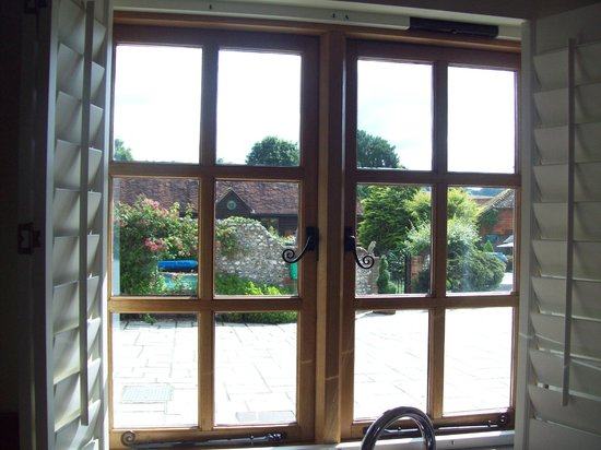 West Marden Farmhouse:                                     View from the kitchen