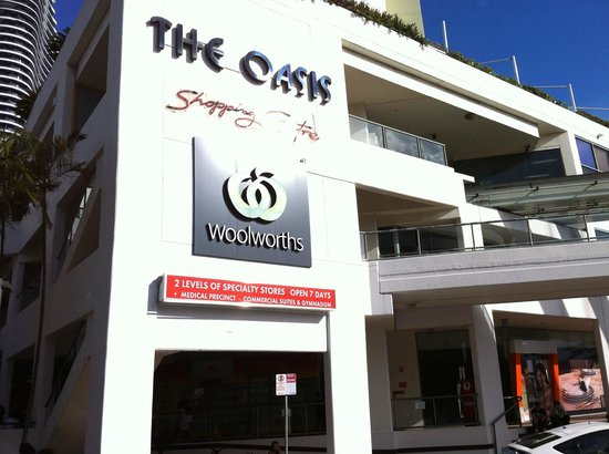 The Oasis Shopping Centre:                   Outside the mall