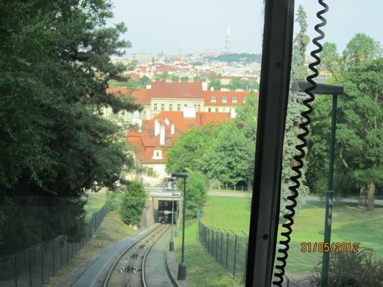 Petřín:                   подъём на трамвайчике