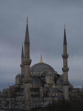 Hotel İbrahim Paşa:                                     Blue Mosque from the hotel roof