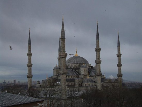 Ibrahim Pasha Hotel:                                     Rooftop View Blue Mosque