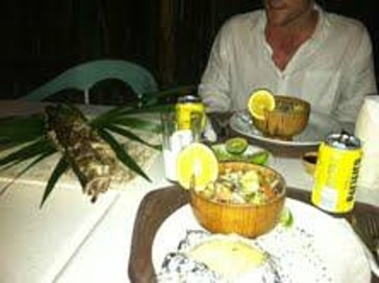 My Tulum Cabanas:                   Dinner at My Tulum