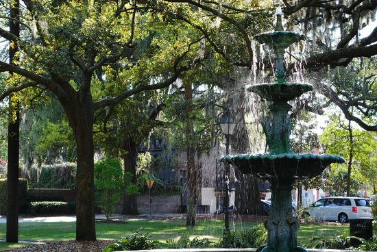 Planters Inn on Reynolds Square:                   One of the wonderful parks