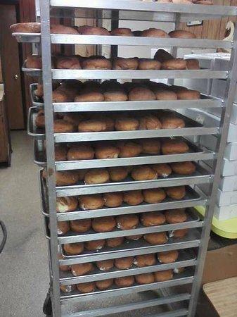 Donna's Donuts: Paczki Day...Paczki stacked everywhere!