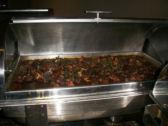 Tinapa Lakeside Hotel:                   Edikaikong soup