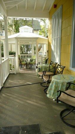 Tybee Island Inn:                   Front porch