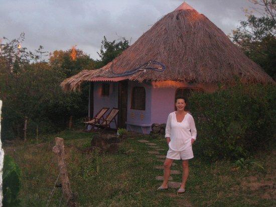 Finca del Sol:                   in front of La Luna cabin