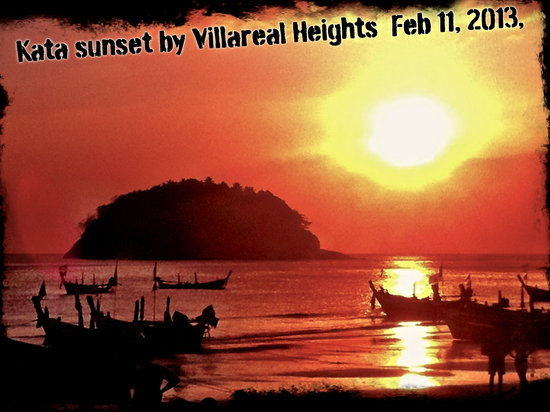 Villareal Heights: Sunset in Kata Beach