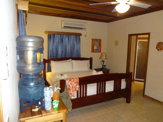 Coco Plum Island Resort:                   Inside the cabana