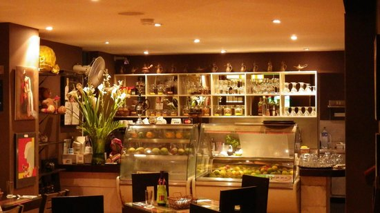 Mezze Restaurant and Cafe:                   Nice inside relax and enjoy