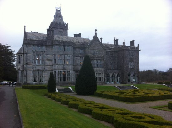 Adare Manor:                   Driving up to the Hotel
