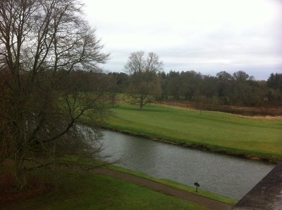 Adare Manor:                   View from bedroom window