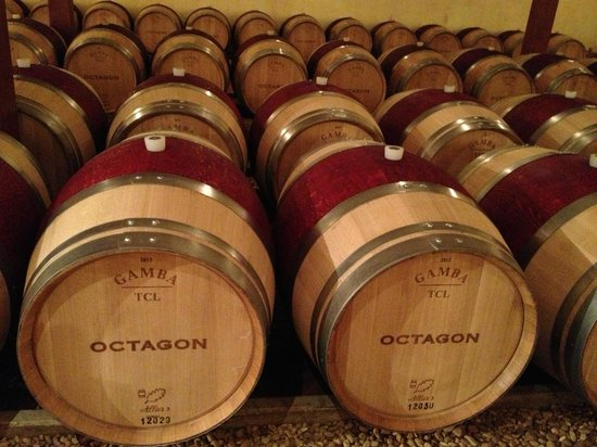 Barboursville Vineyards and Historic Ruins:                   Octagon Barrels of Wine