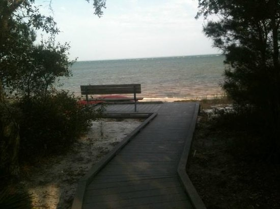 St. Joseph Peninsula State Park:                   View from our cabin overlooking the bay and private boardwalk