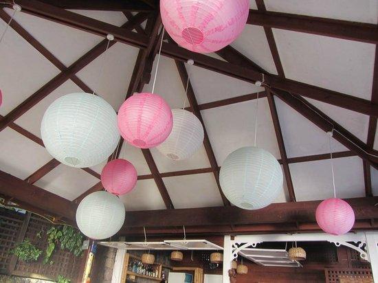 The Mango Tree: Pretty paper lanterns in the bar area