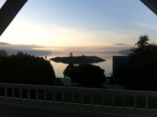 Outlook Inn on Orcas Island:                   Sunrise from View Suite 2/10/13