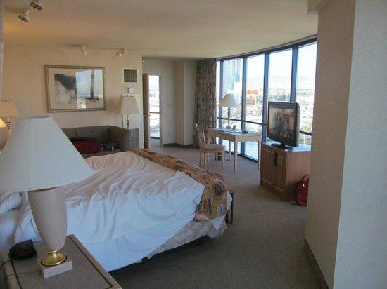 Rio All-Suite Hotel & Casino:                   Windows are all around this corner suite.