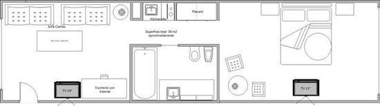 Apart Lima 265 - Edificio ACARA: Suite 38 m2 apartamento