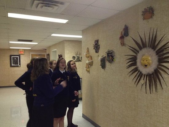 Shenandoah Showcase - Art at the Strasburg Town Hall: FFA members enjoy art at the Strasburg Town Hall
