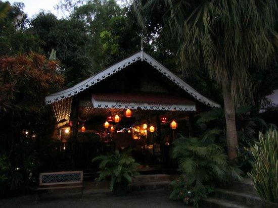 Bamboo Restaurant:                   Jardin Cacao at dusk