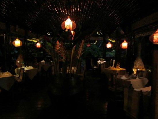 Bamboo Restaurant:                   View inside Jardin Cacao