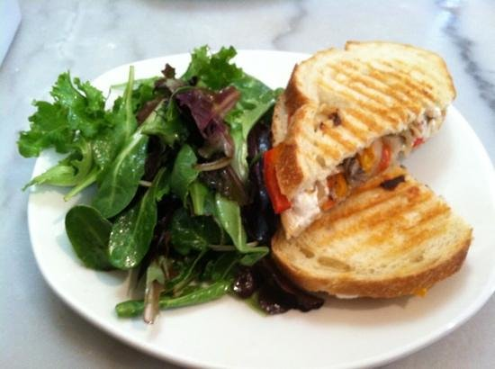 Cheesetique:                   chevre and roasted veggies