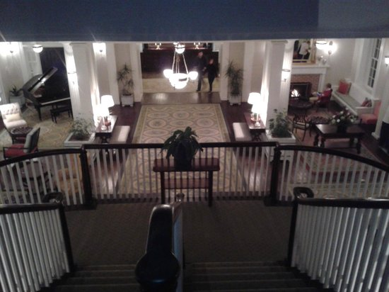 Omni Bedford Springs Resort:                   Down the Staircase
