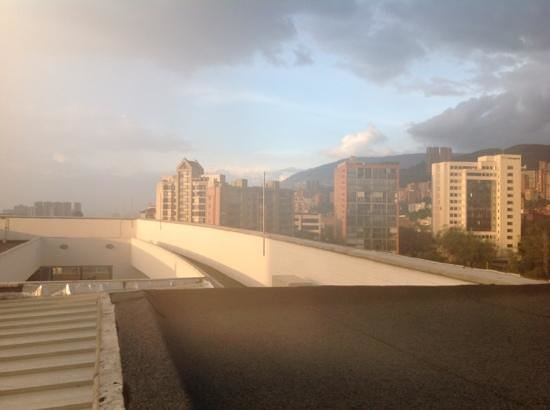 Hotel Sites 45:                   from the roof of the Sites, an etherial late afternoon scene