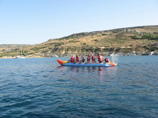 Gnejna Watersports: banana rides