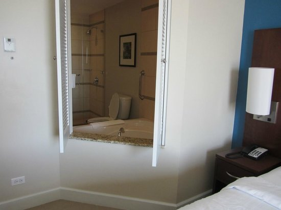 Courtyard Bridgetown, Barbados:                                     Cute Jalousie windows between bedroom & bathroom