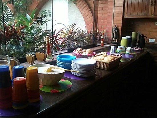 HQ Villa Hostel:                   Café da manhã