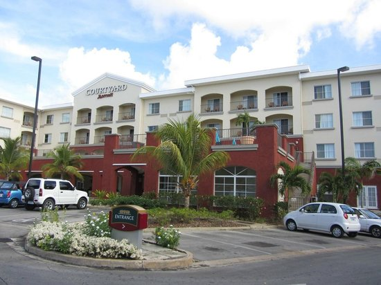 Courtyard by Marriott Bridgetown, Barbados:                                     View of the southern side