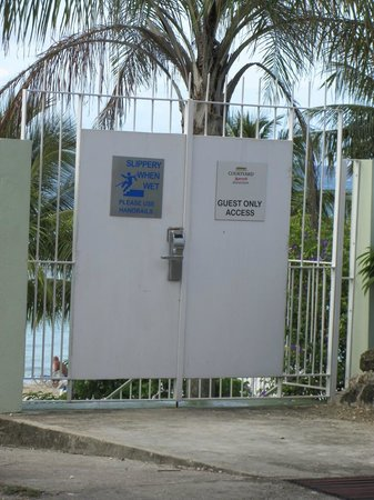 Courtyard Bridgetown, Barbados:                                     Dedicated beach access for Marriot's guests
